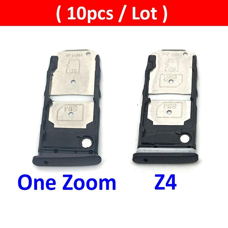 10Pcs/Lot, Micro Nano SIM Card Holder Tray Slot Holder Adapter Socket For Motorola Moto Z4 / One Zoom SIM Card