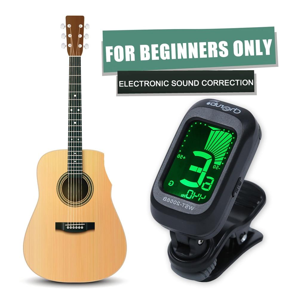 Popular afinador acústico para guitarra violín ukelele Clip bajo-en la pantalla de...