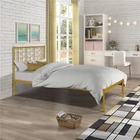 metal bed frame twin size bedroom furniture vintage platform bed drop shipping easy to assemble furnitures