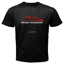 Nowy Michael Schumacher Logo Schumi Racinger Legend męska czarna koszulka rozmiar S-5xl koszulki na co dzień z krótkim rękawem