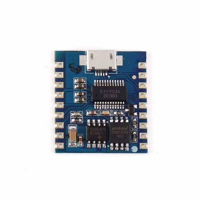 A23-Módulo de reproductor de MP3 USB Audio 8Bit i/o UART Trigger Contorl 32Gbit Flash USB descargar Flash Módulo de voz DY-SV17F