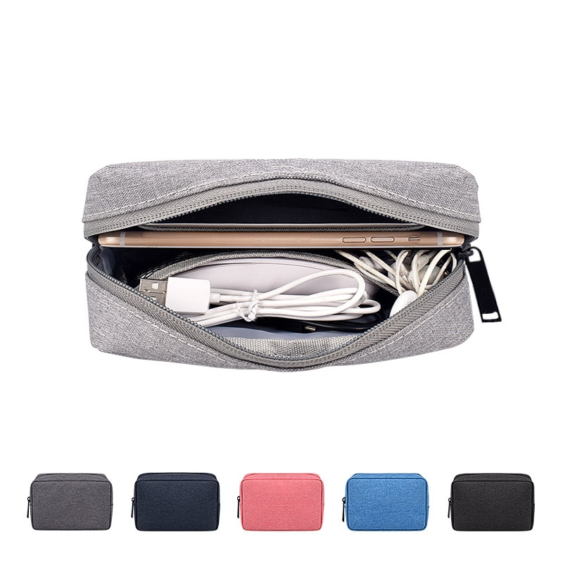Travel Solid Make Up Bags Carrying Wash Cosmetic Tote Bag Makeup Beauty Cable Organizer Toiletry Pou