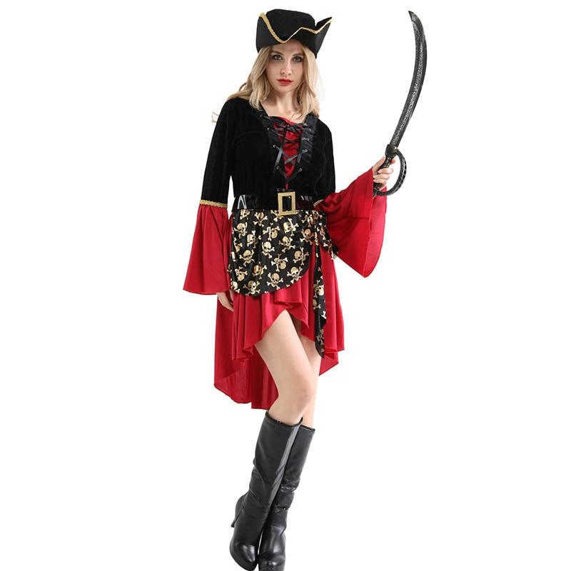 Disfraz de pirata para Mujer, Disfraz de Halloween, Carnaval, fantasía, Disfraz Mujer...