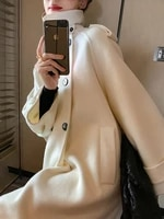 cashmere double faced woolen coat for fallwinter 2021 new cape loose coat
