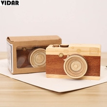 VIDAR Nordic Clockwork Small Music Box Wood Camera String Music Box For Kid Hand Crank Music Box Chi