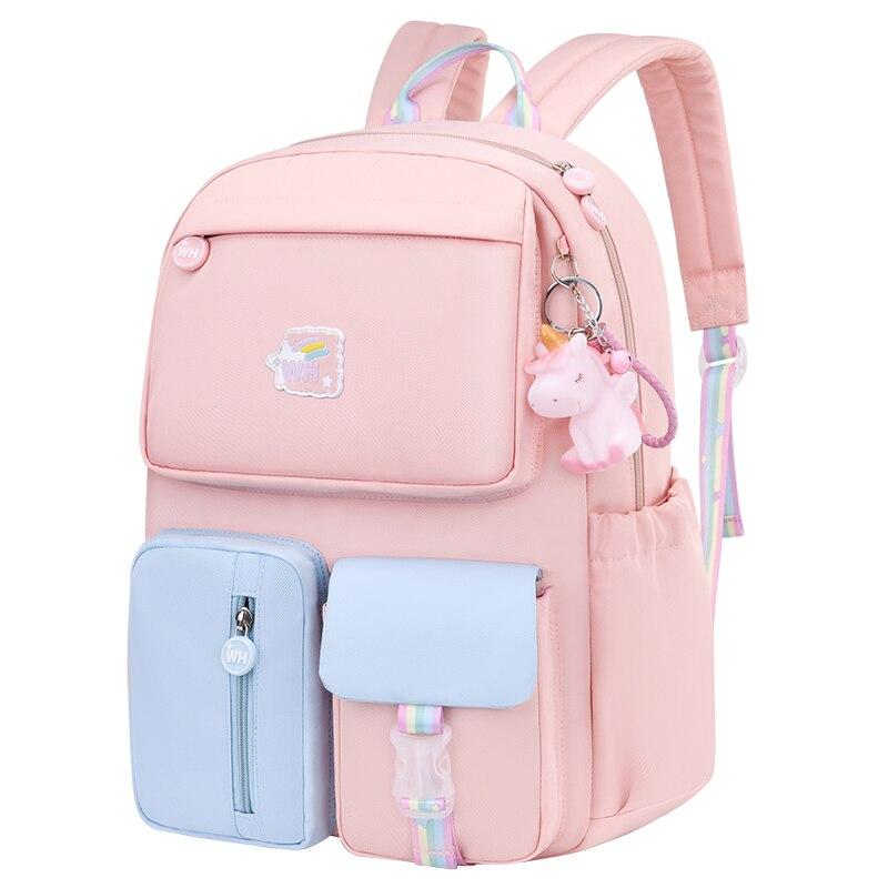 الكورية موضة قوس قزح حزام الكتف حقيبة مدرسية للمراهقين الفتيات الأطفال حقائب الظهر مقاوم للماء الاطفال الحقائب المدرسية mochilas