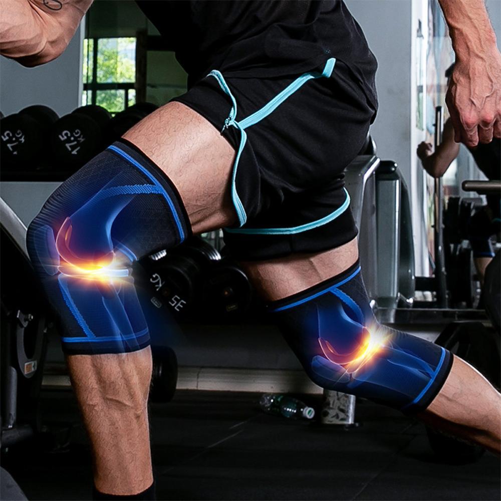 1PCS Knee Pads at Arthritis Sleeve Cycling Elastic Nylon Sports Fitness Kneepad Tennis knee Support Braces Basketball Voleyball