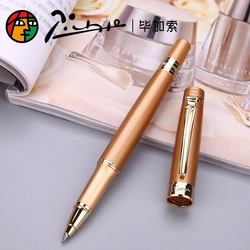 Picasso 917 Pimio Roller Ball Pen Black Pen Gold Clip Ballpoint Pens Black Ink Writting Pen for Bussiness and Office