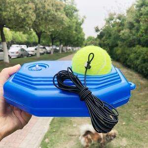 tennis trainer partner sparring device heavy duty tennis training aids tool with elastic rope ball practice self-duty rebound
