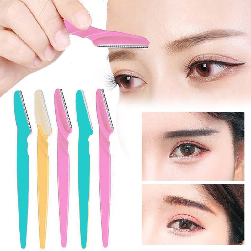 3/10Pcs Eyebrow Razor Eyebrow Trimmer Hair Remover Set Women Face Razor Eyebrow Trimmers Blades Shav