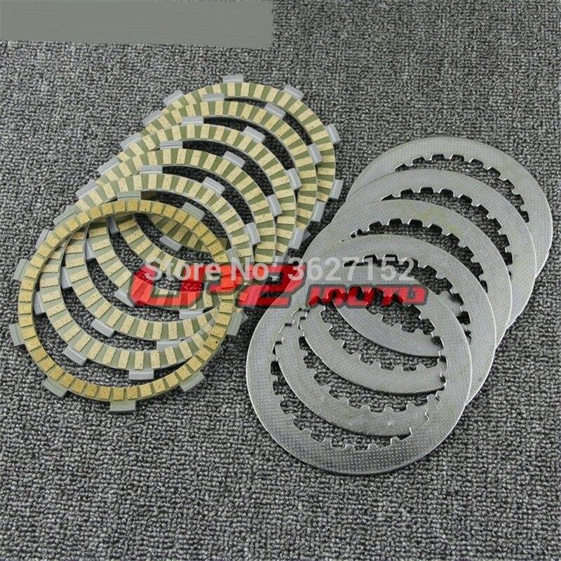 Placas de fricción de embrague discos para Honda XR250 XR250R 86-05 XR350 RD/RE 83-84 TRX300 X9 EX 93-08 TRX350 00 01 02 03 04 05
