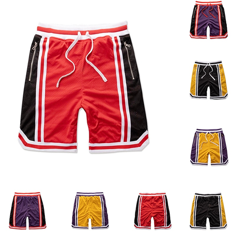 Men Fashion Outdoor Workout Pants Summer Breathable Basketball Sports Gym Short Pants Male Casual Training Mesh Shorts
