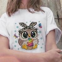 fashion trend new t shirt cute owl graphic printed female t shirt casual harajuku crew neck ladies tshirt women t shirts tops