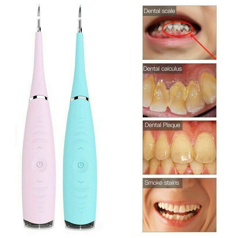 Electric Sonic Dental Scaler Tartar Calculus Plaque Remover Tooth Stains Tool USB Recharge Remove Whiten Teeth Sonic Tooth Brush electric ultrasonic sonic dental scaler tooth calculus remover cleaner tooth stains tartar tool whiten teeth tartar remove tool