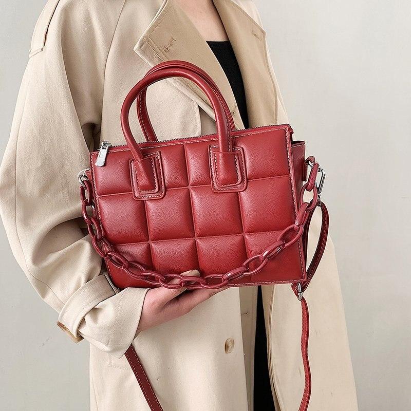 Fashion Vintage Women Shoulder Bags 2021 New Leather Handbags Chain Women Crossbody Bag High Quality