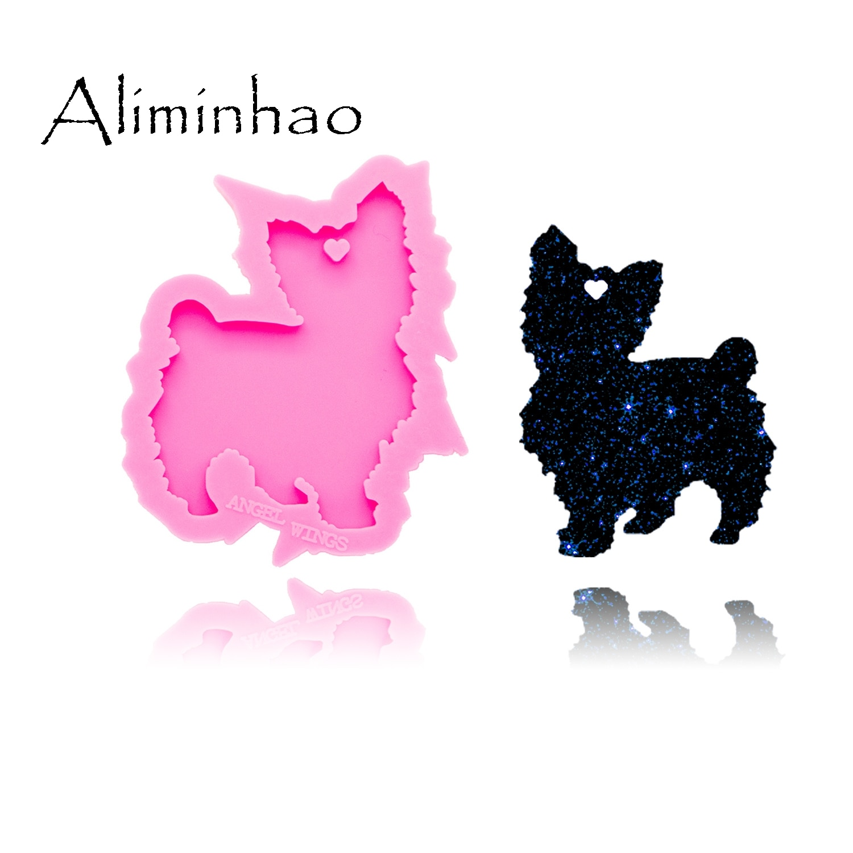 aliexpress.com - DY0264 Shiny Cute cat mold Silicone Molds DIY epoxy keychains Mould custom keychain
