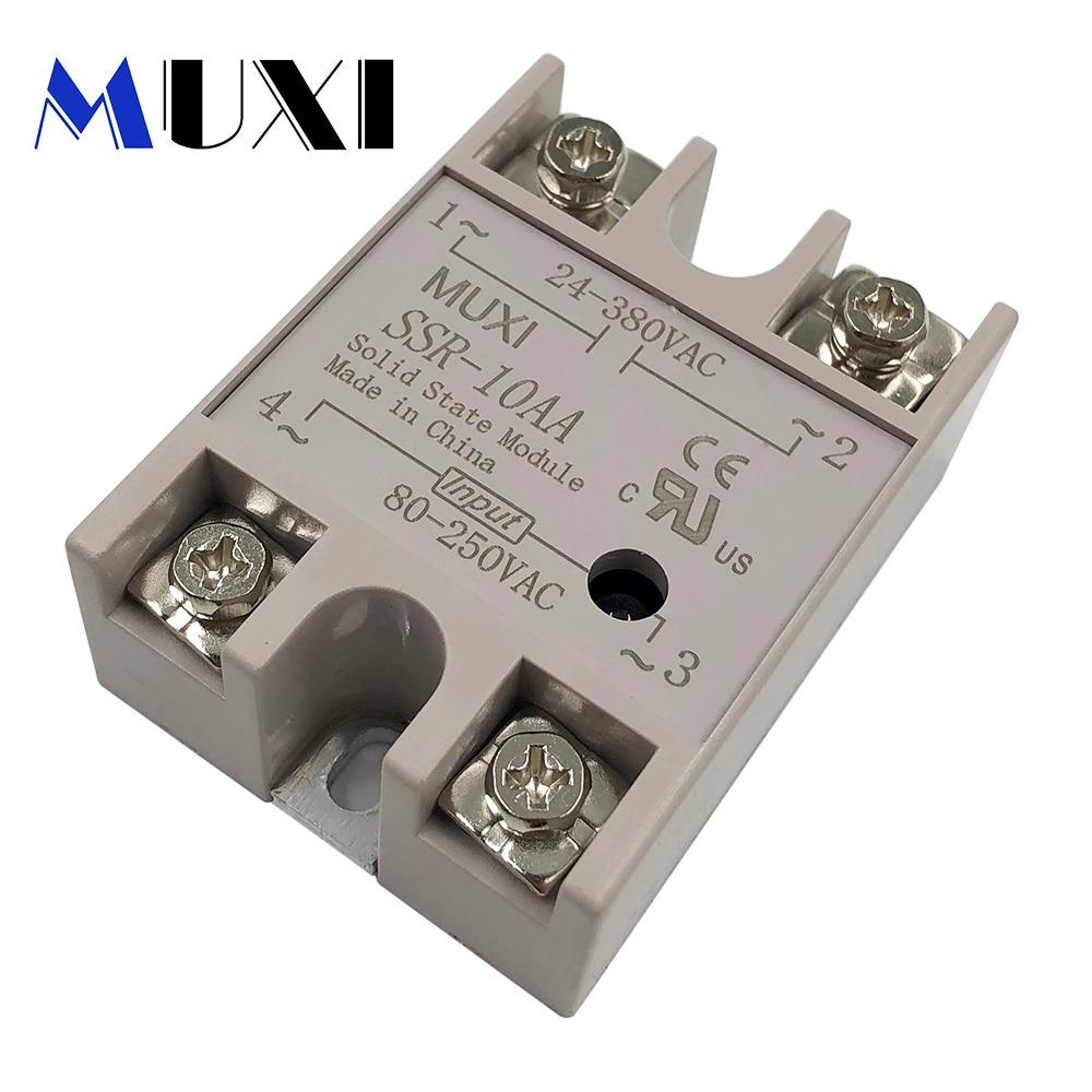 Xingo Brand New Voltage Transformer 10A 25A 40A DC 3-32V TO 24-380V AC SSR-(10/25/40)-DA  Solid State Relay Module