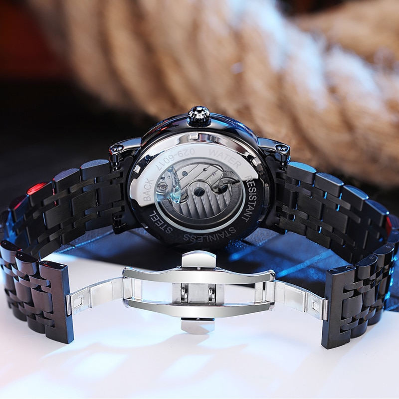 New Men's Leisure Automatic Mechanical Watch Luxury Brand Fashion mens watches Hollow Watch for men Male Gifts Relogio Masculino enlarge