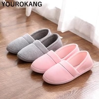 women shoes autumn winter home slippers concise indoor warm household shoes slip on non slip pregnant ladies footwear loafers