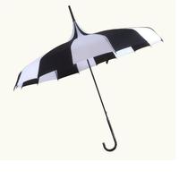 Pagoda umbrella single point wrapped long handle Princess sunshade fresh creative photography retro sunny umbrella rain sunny
