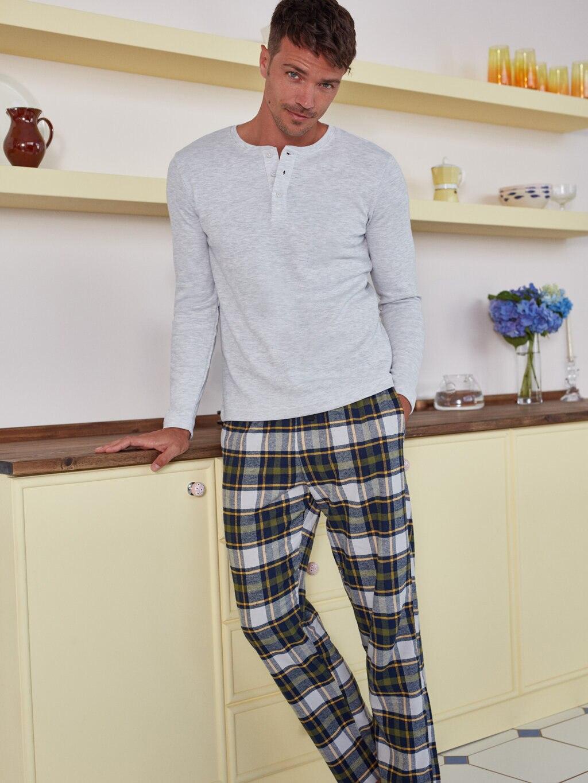 بيجامات رجالية طقم نوم للرجال قميص نوم سفلي ملابس غير رسمية مقاس عادي S M L XL XXL 2021 بيجامات موضة جديدة
