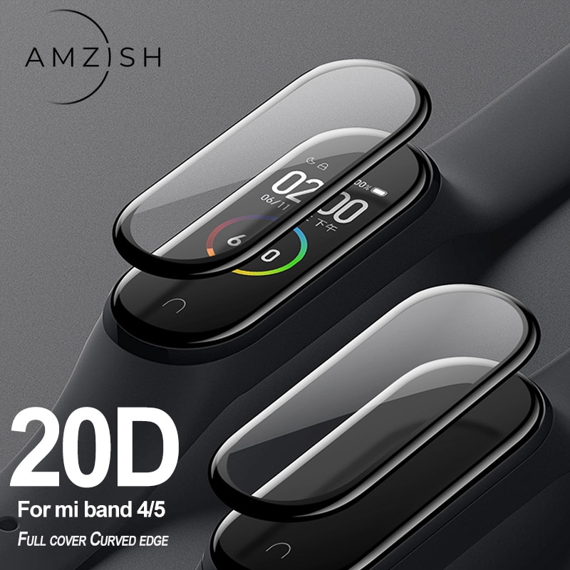 Фото - amzish 20D Curved Edge Protector Glass For Xiaomi Mi Band 4 5 glass Full Cover Film For MiBand 4 5 Screen Protector Anti-scratch xiaomi mi curved gaming m 34 bhr4269gl