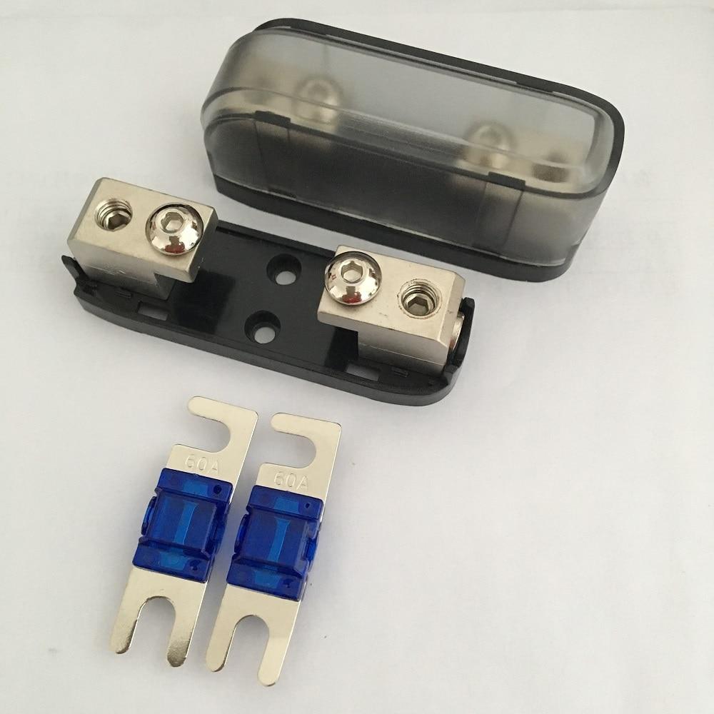 2 unids/pack de Audio de coche 4AWG 8AWG Cable de alimentación en Mini ANL hoja fusible AFS titular con fusible
