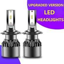 2pcs H4 LED Lamp Headlight H7 H1 H11 H3 HB3 9005 9006 HB4 9012 Car Bulb 8800LM 45W 6000K Auto Head Light Headlamp 12V