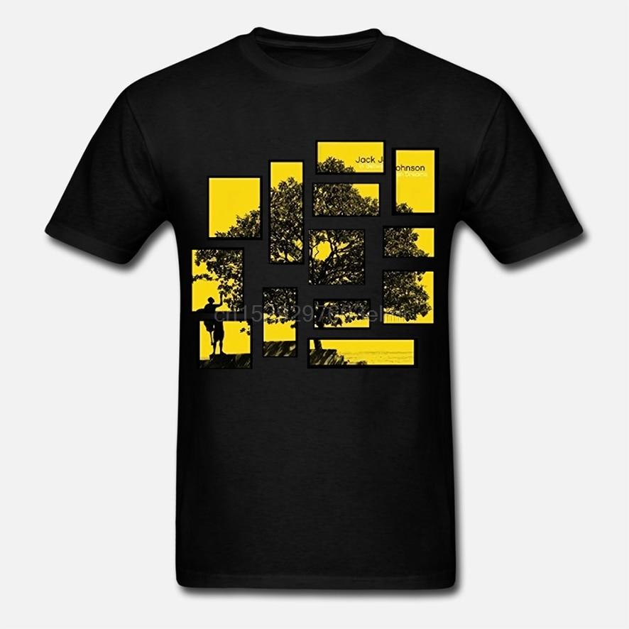 Jack johnson american singer songwrite design tripulação pescoço t camisa para homem