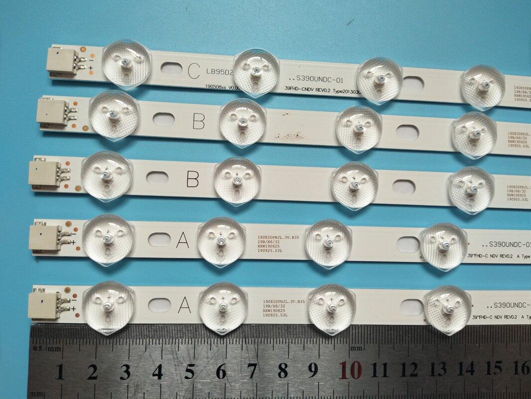 9 مصابيح LED شريط إضاءة خلفي ل LT-40TW51J LT-40DG51J LT-39C740 DLED39167FHD P40LED13 39227FHD LC-39LD145K LED البارات الصمام العصابات