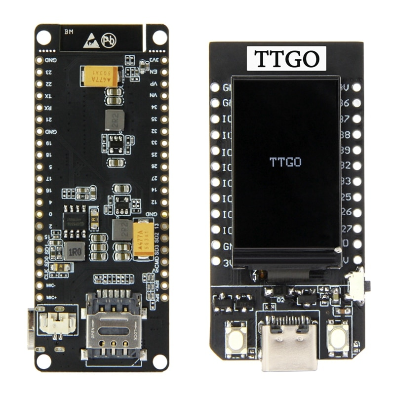 2 مجموعة الملحقات: 1 مجموعة Ttgo T بنداء V1.3 Esp32 اللاسلكية وحدة جي بي آر إس و 1 مجموعة Ttgo T-عرض Esp32 مجلس 1.14 بوصة Lcd