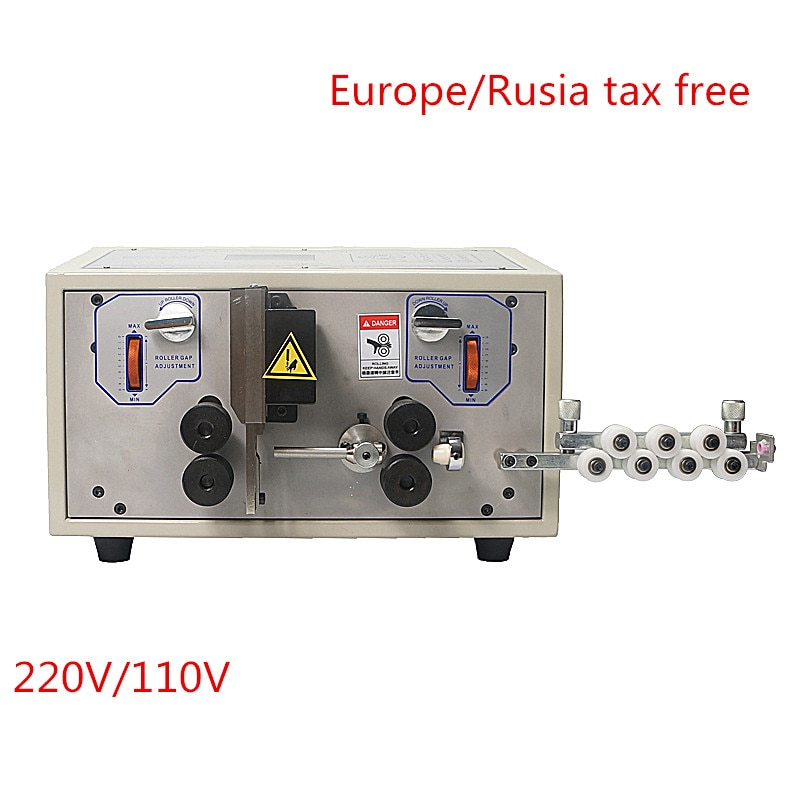 SWT508E automatic cutting stripping peeling machine for 0.1mm  8mm cable wire crimping skinning stripper free tax  Russia