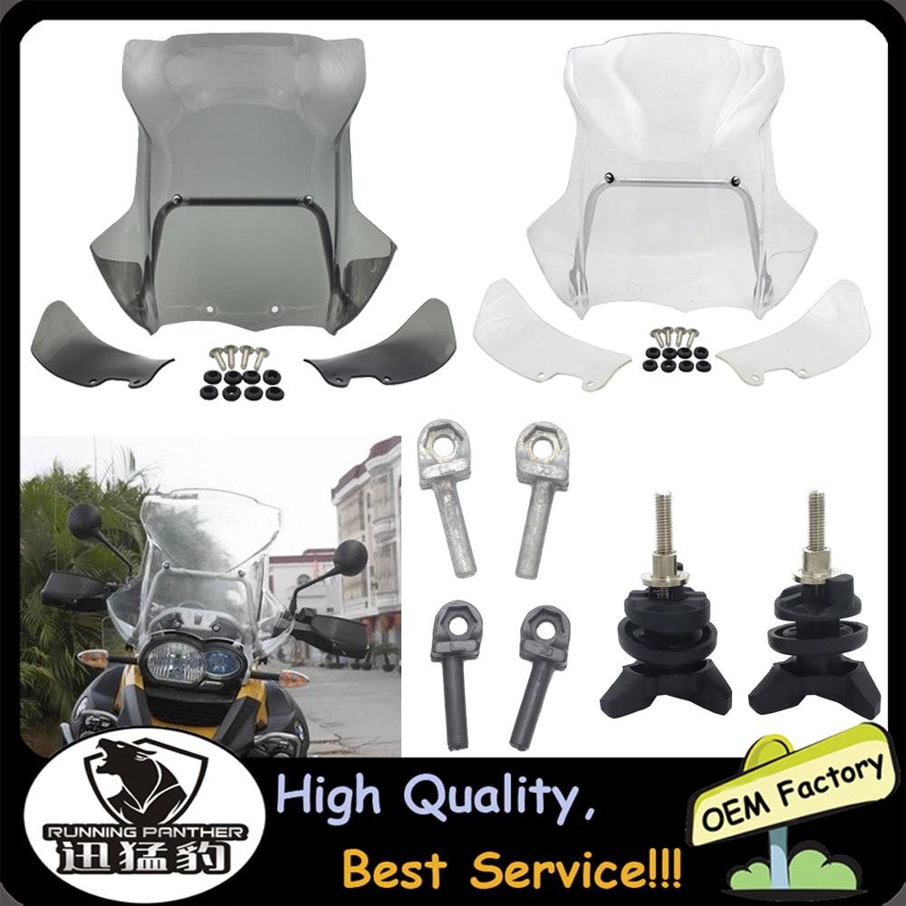 Motocicleta Brisa Defletores de Vento + suporte de navegação Para BMW R 1200 GS R1200GS R1200 Aventura Anos 2005-2012 2011 2010