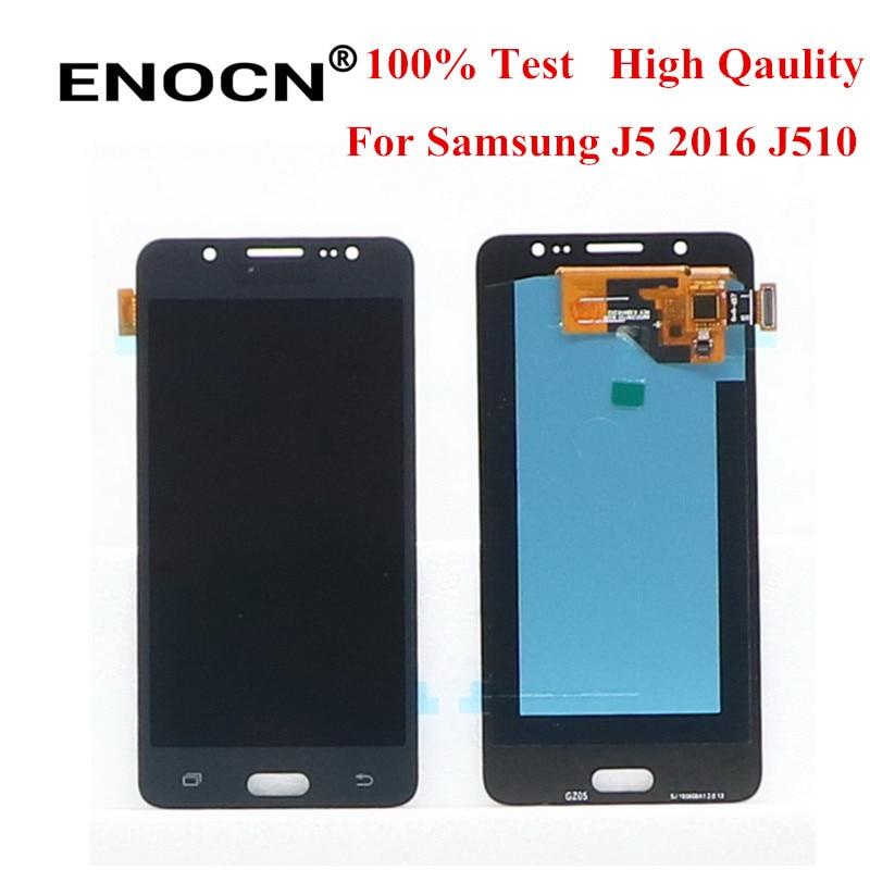 100% الأصلي 5.2 ''سوبر AMOLED شاشات LCD لسامسونج غالاكسي J5 2016 J510F J510FN J510M J510Y J510G J510 LCD عرض تعمل باللمس