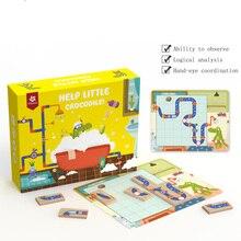 Helpen Kleine Krokodil Doolhof Iq Puzzels Games Speelgoed Voor Kinderen Verbeteren Logisch Denkvermogen Puzzel 30 Uitdaging Met Oplossing