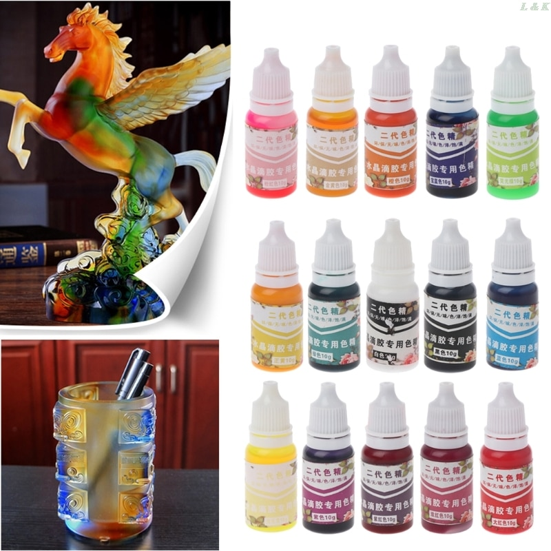 UV Resin Ultraviolet Curing Resin Liquid Pigment Dye Handmade Art Craft 15 Color PXPC