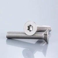 50pieces m2 m2 5 m3 m4 stainless steel 304 torx countersunk screw guard screw six lobe flat head machine security screws