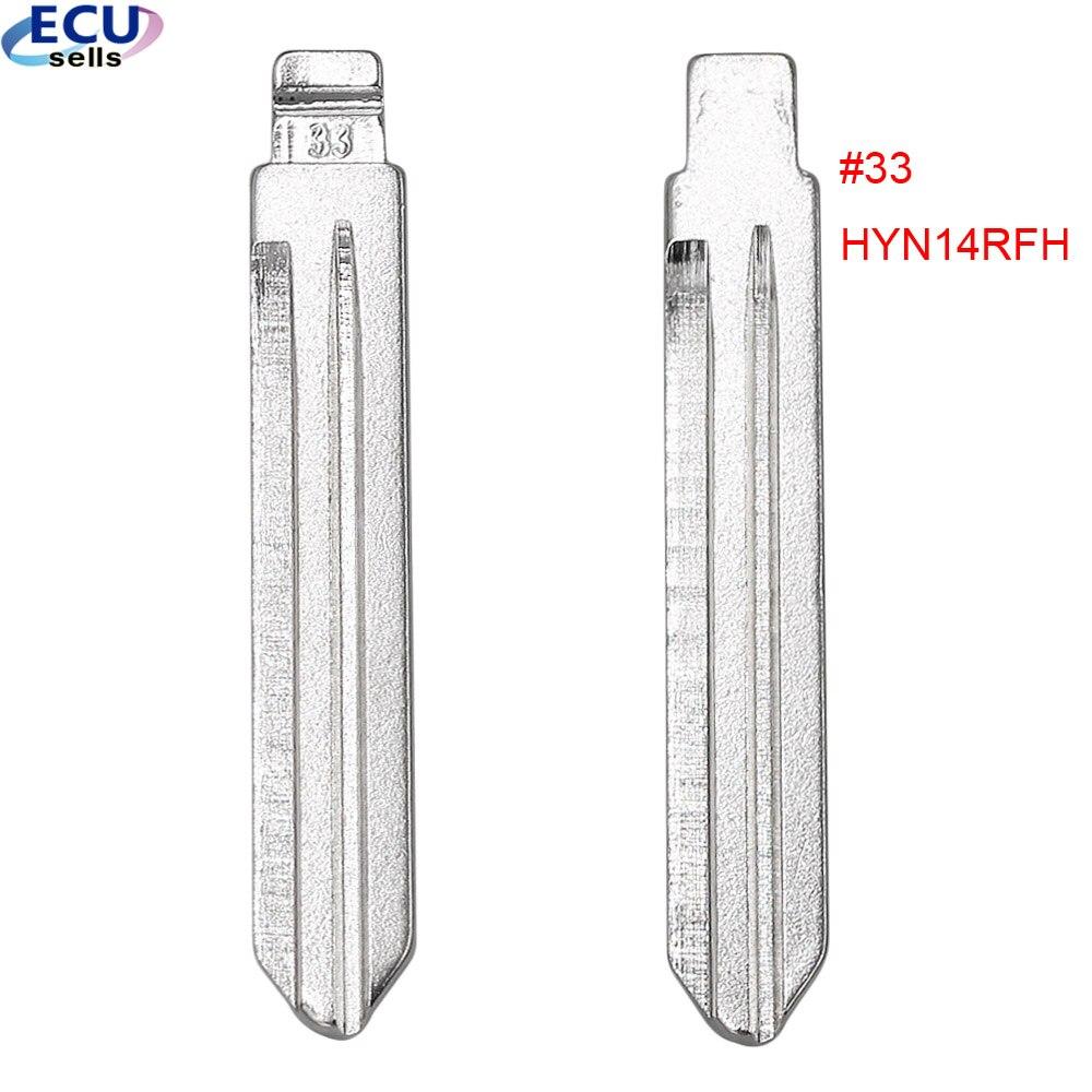 2 pçs x #33 lâmina universal auto carro controles remotos flip para kd remoto para hyundai accent hyn14rfh chave lâmina Chave do carro    -
