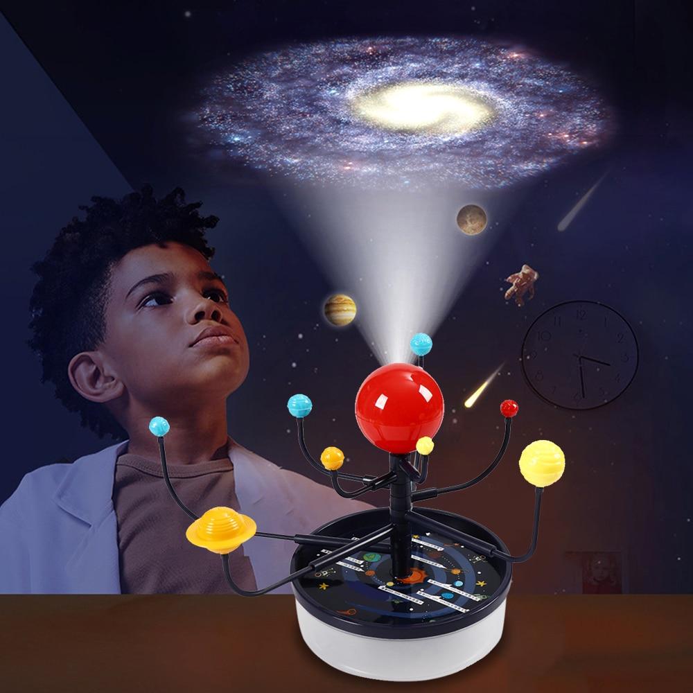 Система солнечных батарей, девять наименований, набор для самостоятельной сборки, планетарные игрушки для взаимодействия родителей и дете...