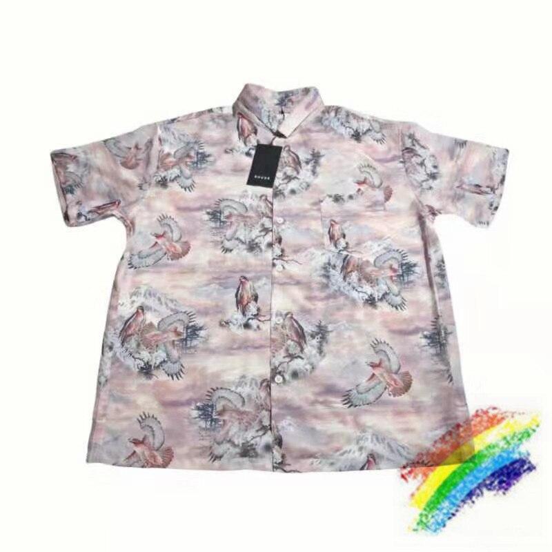 2020 impressão digital rhude camisa masculina feminino 11 versão superior streetwear camisetas rhude