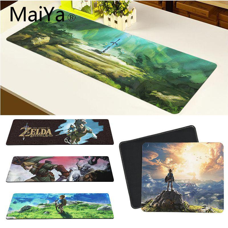 Maiya Hohe Qualität Die Legende von Zelda Natürliche Gummi Gaming mauspad Schreibtisch Matte Freies Verschiffen Große Maus Pad Tastaturen Matte