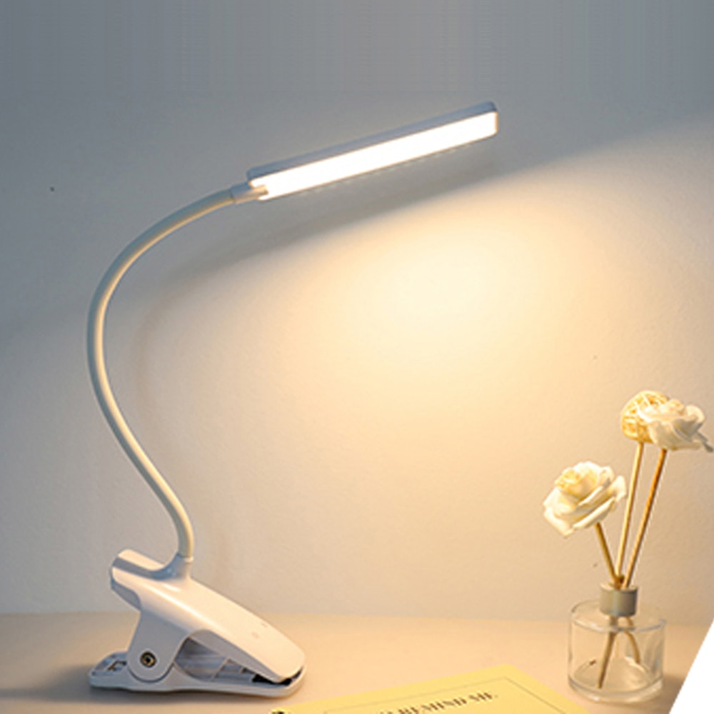Wireless LED Desk Lamp Foldable Dimmable Touch Table Lamp Rechargeable Lamp Eye Protection Study Lamp Reading Light White/Warm W