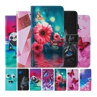 butterfly flower painted leather flip case for huawei honor 9s y5p y6p 2020 p smart 2020 wallet card holder stand book cover