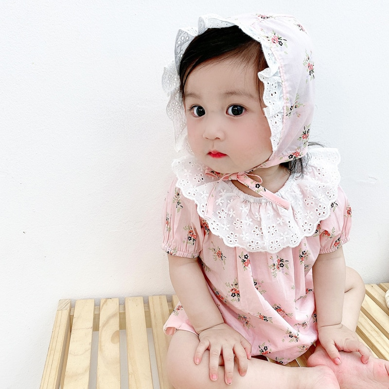 Yg Brand Children's Clothing, Summer Clothing, Korean Version Broken Flower Baby One Pack, Fart Clothes, Baby's Crawling Clothes
