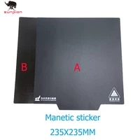 creality 3d ender 3 magnetic build surface plate sticker pads ultra flexible removable 3d printer heated bed cover 235235mm