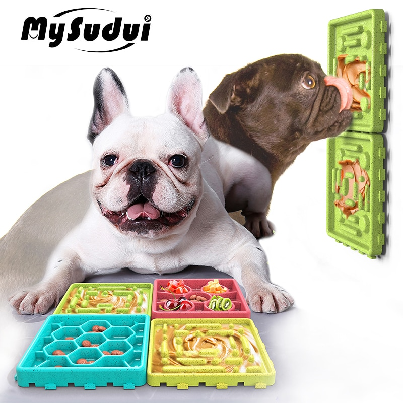 Cuenco antideslizante MySudui para lamer perros, dispensador de alimento lento, plato alimentador de puzle para perros, juguete de alimentación interactivo, fácil aseo