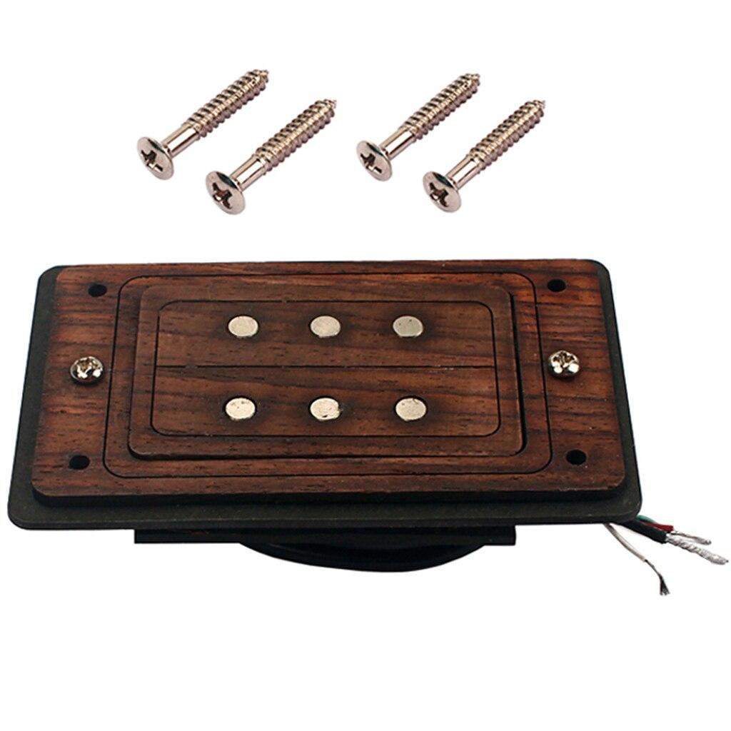 Коробка для сигар гитара 3 струны хамбакер Пикап с рамой из розового дерева