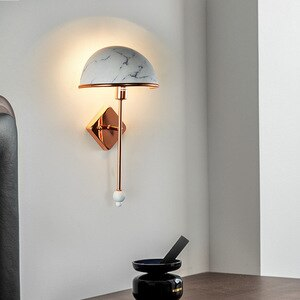 Nordic Modern Wall Lamp Creative Personality Living Room Bedside Led Wall Light Bedroom Corridor Hotel Iron Artindoor Lighting