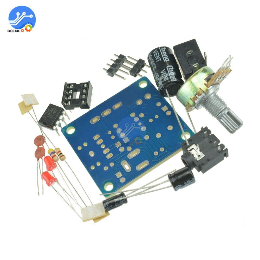 LM386-altavoz de audio mini placa amplificadora, módulo 3V-12V, Kit DIY, amplificador de...