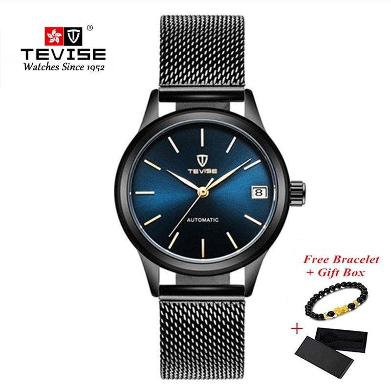 TEVISE Woman Bracelet Watches Luxury Automatic Women Watch Mechanical Watches For Ladies Waterproof